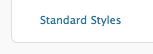 Standard Styles