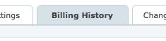 Billing history tab