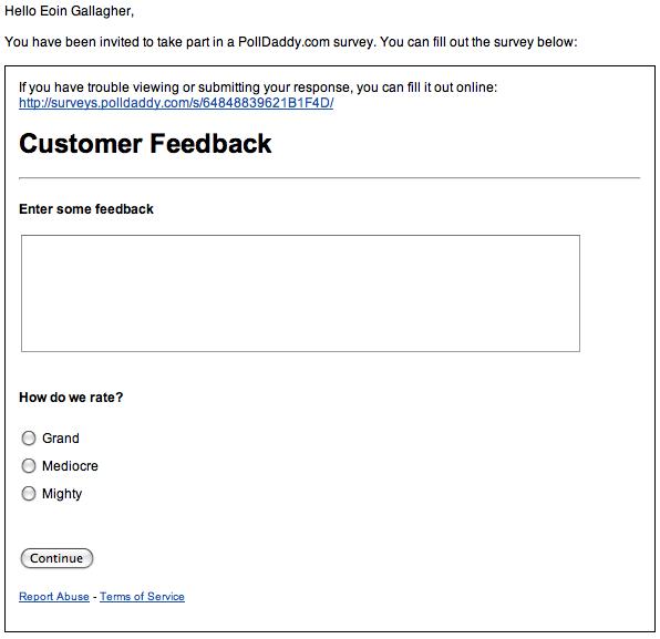 Survey Embed