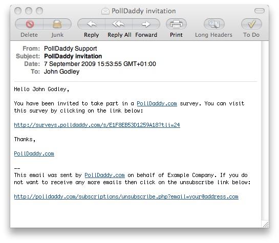 PollDaddy invitation