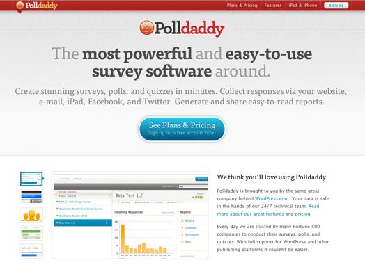 Screenshot-new Polldaddy.com redesign