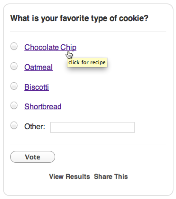 Add Links to Poll Answer Options – Crowdsignal