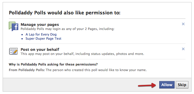 how to create a voting poll on facebook page